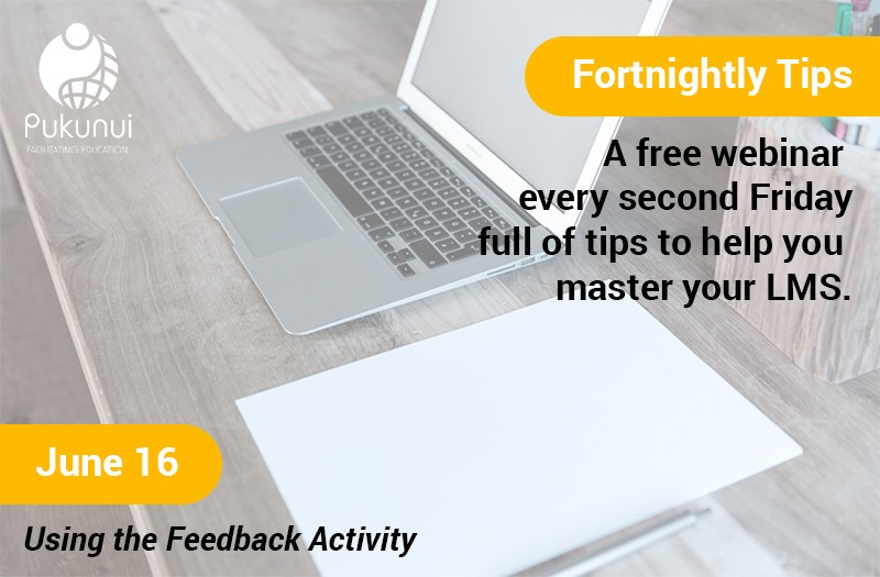 Fortnightly Tips - giving you Moodle tips and tricks every two weeks.