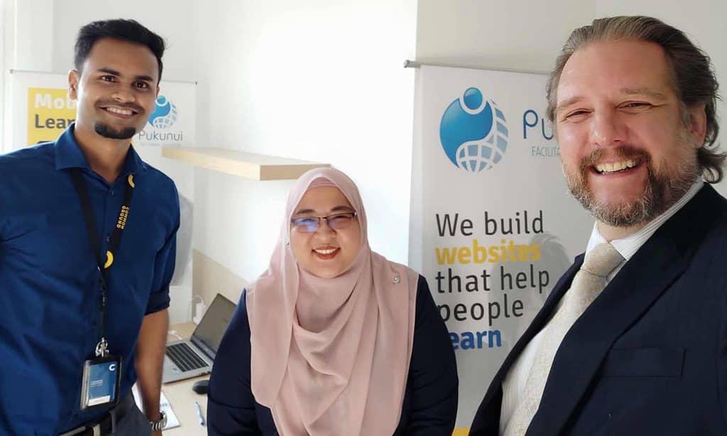Pukunui Malaysia staff - Vinny, Jonathan and Putri.